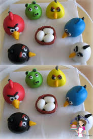 Gum paste Angry Birds Cake Toppers Tutorial Veena Azmanov