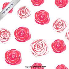 Rose Pattern Fascinating Watercolor Roses Pattern Vector Free Download