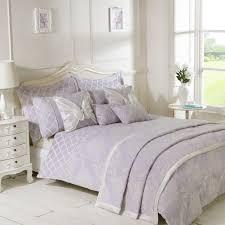 freya lilac luxury jacquard duvet cover