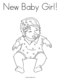 Small Picture New Baby Girl Coloring Page Twisty Noodle