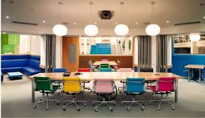 Colorful office space interior design Wall Office Chairs Colorful Office Decor Colorful Office Space Interior With Interesting Colored Office Chairs With Long Optampro Office Chairs Colorful Office Decor Colorful Office Space Interior