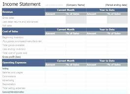 Monthly Profit And Loss Statement Income Statement Excel Template Beautiful Monthly Profit And