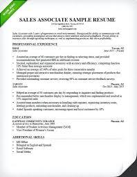 Sales Associate Resume Skills Resume Of Sales Associate Retail Sales