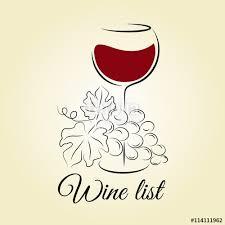 Free Wine List Template Download Wine Glass With Grape Wine List Template 273425500005 Free Wine