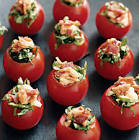 b l t  stuffed tomatoes