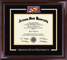 arizona state university diploma frames church hill classics arizona state university diploma frame spirit medallion diploma frame in encore