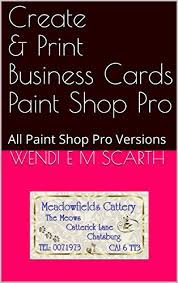 Amazoncom Create Print Business Cards Paint Shop Pro All Paint