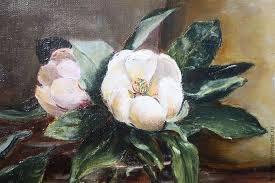 magnolia flower oil paintings oil painting still life magnolia oil on canvas on