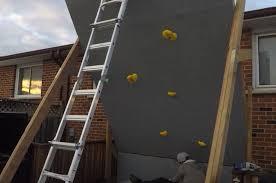 an adjustable home climbing wall