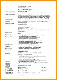 Purchasing Manager Resume Sample To Resume For Retail Manager