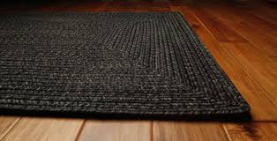 black braided rug