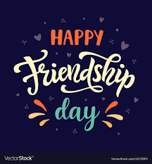 happy friendship day poster vector image