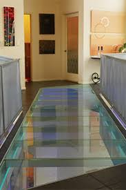 bathroom glass floor tiles. Glass Floor Bridge Over Stair Landing Bathroom Tiles 4