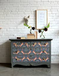 decoupage ideas for furniture. furniture makeover industrial apartment painted brick diy decoupage mod podge ideas for l