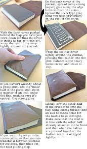 step by step instructions to leather bind a book or journal posh