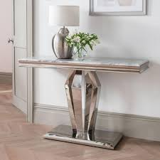ernest console table stainless steel