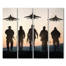 4 piece canvas military jet airplane army at sunset wall art canvas panel print ash on airplane canvas wall art canada with national flags soldier war ash wall decor
