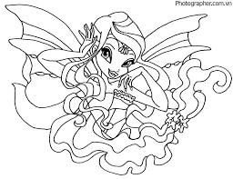 Tranh tô màu công chúa phép thuật Winx đẹp nhất