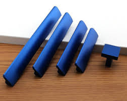 6.3'' 5'' 3.78'' 2.5'' Bright Blue Cabinet Pulls