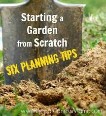 six planning tips for starting a garden