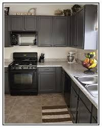 painted kitchen cabinets with black appliances. Image Result For Grey Kitchen Cabinets And Black Appliances Painted With A