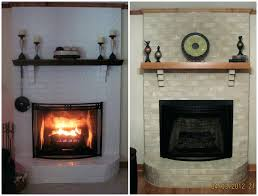 brick fireplace paint pictures of fireplaces painted grey kit makeover ideas