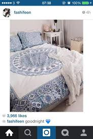 Blue bed sheets tumblr Blue Pillows Home Accessory Bedding Urban Outfitters Beach House Blue And White Boho Boho Decor Bedroom Mandala Hippie Get Home Accessory Bedding Urban Outfitters Beach House Blue And