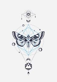 Moth Geometric Totem Cocorrina Jackets Pic Ideas