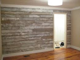wood panel accent wall
