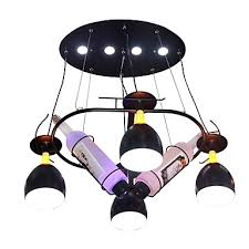 qihengzhaoming 4 light chandelier ambient light painted finishes metal 110 120v 220