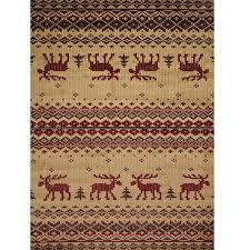 moose area rug embroidered moose area rug united weavers moose print area rugs moose area rug