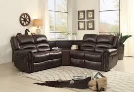 7small corner recliner sofa brown