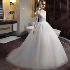 western wedding dresses. Long Sleeve Lace Wedding Dresses Ball Gown Backless Princess Weding
