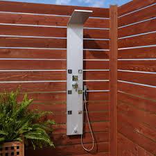 harlingen six jet outdoor shower panel with hand shower