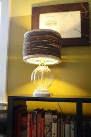 An Upcycled Lamp With A Recycled Cardboard Shade (Anthropologie hack)