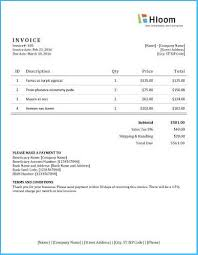 Create A Commercial Invoice Terrific Word Document Invoice Template To Create Your Own