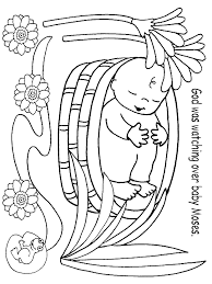 Mozes In Het Biezen Mandje Werkbladenknutsels Bijbel 주일학교