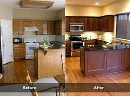 Paint Kitchen Cabinets Before And After Enchanting Painting Oak Kitchen Cabinets Dreambeam