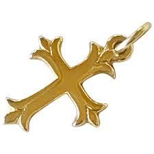 Petite Vintage James Avery Cross Charm/Pendant 14K Gold : A Charmed Life |  Ruby Lane