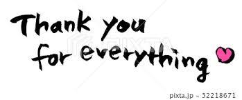 Thank You 英語 筆文字 ありがとうのイラスト素材 32218671 Pixta
