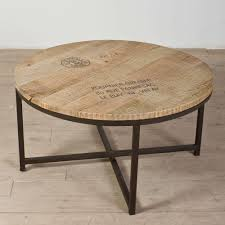 reclaimed wood and metal round coffee table new luxury small round reclaimed wood coffee table