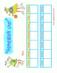 Homework Chart Learning Ideas For The Little Ones