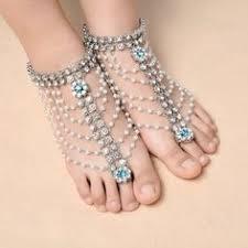Boho Barefoot Imitation Pearl Pendant <b>Crystal Rhinestone</b> Multilayer ...