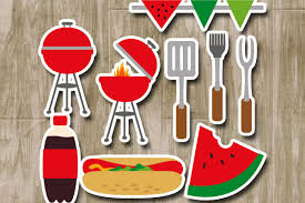 summer party clipart.  Summer Summer Barbecue Party Clipart  BBQ Grill Clip Art Example Image 1 With Party Clipart T