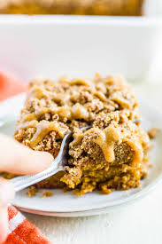 Cut in butter with a pastry blender or 2 knives until thanks for adding your feedback. Pumpkin Coffee Cake With Streusel Topping Paleo What Molly Made