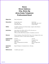Example Of High School Resume Unique High School Resume Skills Examples High School Resume 93