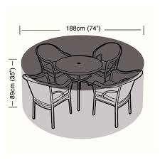 protector 4 6 seater circular patio set cover 188cm ref w1196