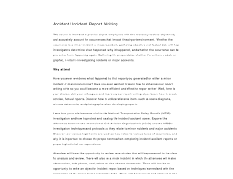 Sample Of Accident Report Writing Tagua Spreadsheet Sample Collection