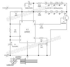 flashing led lights circuit schematic electronics pinterest Police Lights Wiring Diagram flashing led lights circuit schematic police light bar wiring diagram