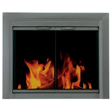 craton large glass fireplace doors